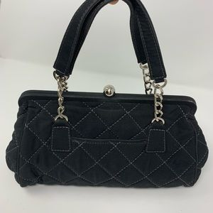 Vera Bradley Black Quilted Bag Purse Satchel